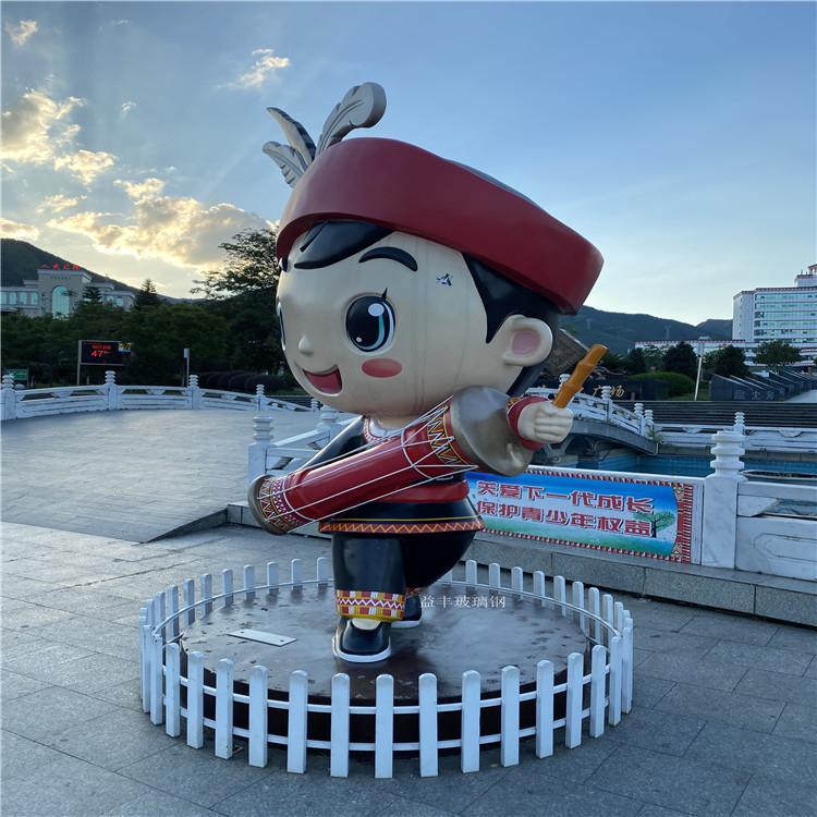 佛山民風卡通雕塑 中國風卡通雕塑