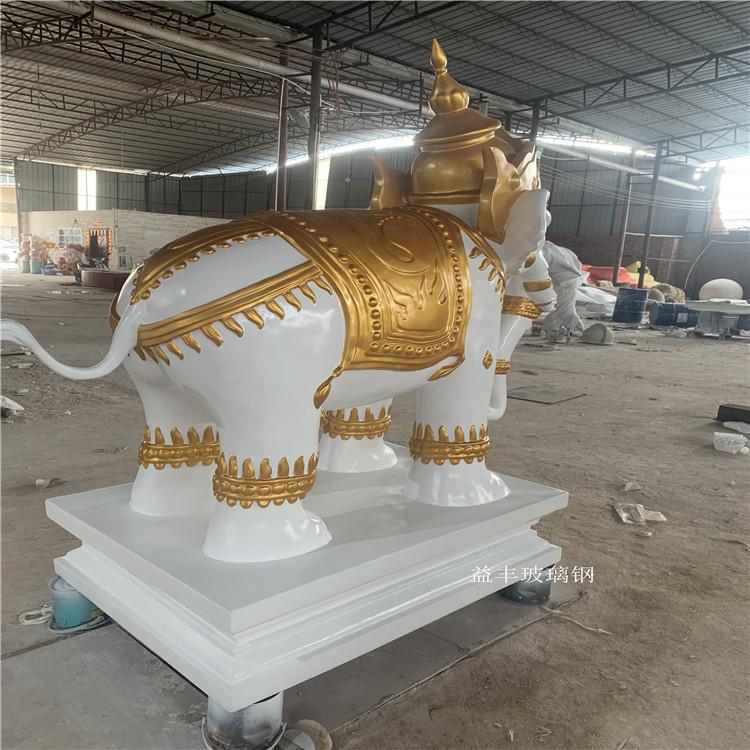 東莞仿真動物雕塑 玻璃鋼大象雕塑 吉祥物擺件