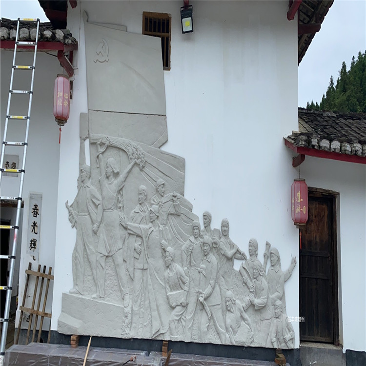 仿銅浮雕人物雕塑 從化社區紀念浮雕墻雕塑