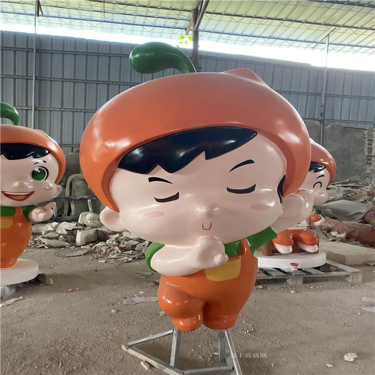 增城企業形象卡通雕塑 玻璃鋼公仔雕塑 益豐卡通雕塑制作廠家