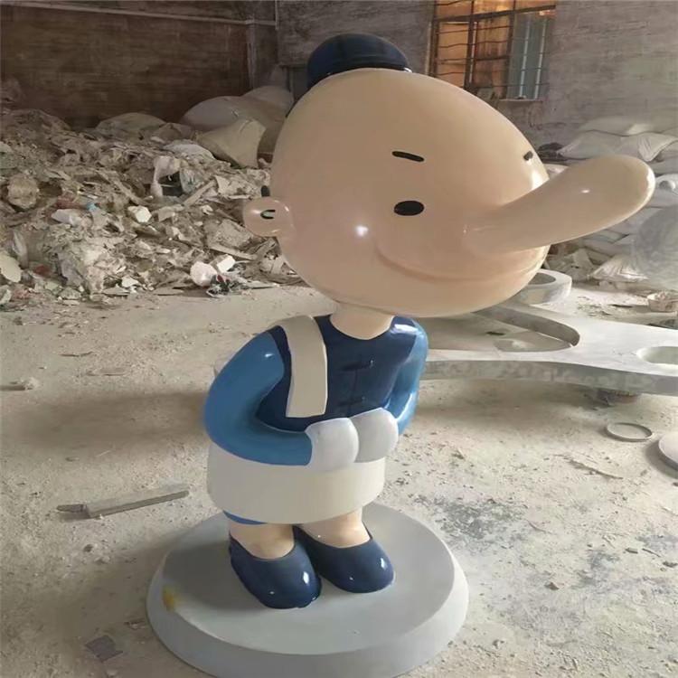 湖北迎賓卡通人偶雕塑 益豐玻璃鋼雕塑廠家
