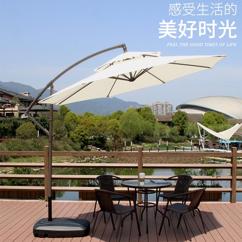 伊夢兮雨 戶外遮陽傘庭院花園香蕉羅馬傘太陽傘庭院傘廣告傘沙灘汽車反向傘 香蕉傘