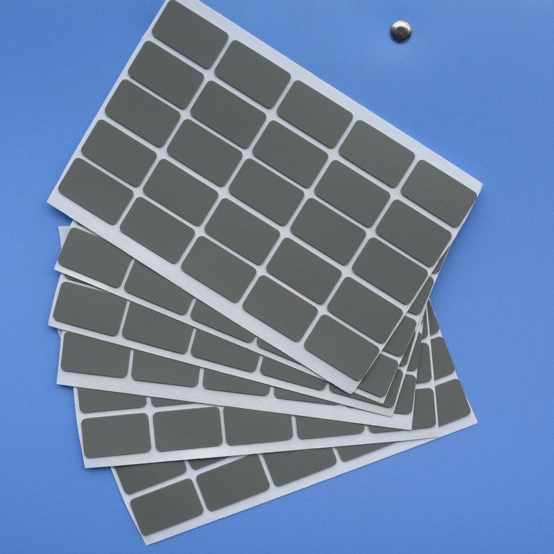 安思誠東莞硅膠墊生產廠家灰色長方形硅膠硅膠墊片